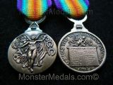 MINIATURE WW1 INTER ALLIED VICTORY MEDAL GREECE GREEK
